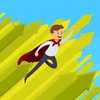 Illustration de la croissance de carrière vecteur