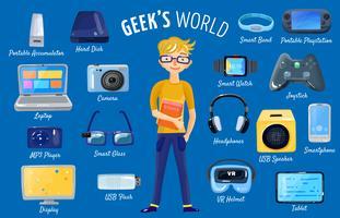 Monde de Gadgets Set vecteur