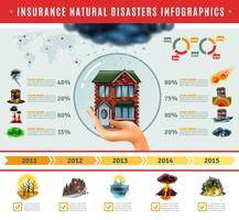 Assurance infographie catastrophes naturelles vecteur