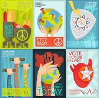 Set d'affiches de propagande vecteur