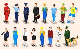 Métier isométrique de professions