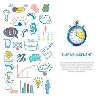 Concept de gestion du temps vecteur