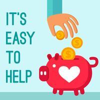 Affiche de don de charité vecteur