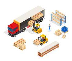 Composition de chargement de véhicule d'entrepôt