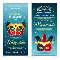 Bannières verticales Invitation Carnaval vecteur