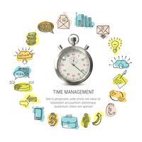 Conception ronde de gestion du temps vecteur