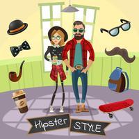Illustration de sous-culture hipsters vecteur