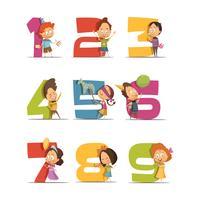 jeu d'icônes rétro fête d'enfants vecteur
