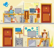 Ensemble de postes de travail en génie logiciel