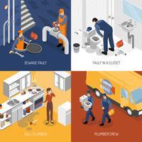 Concept de conception de service de plomberie vecteur