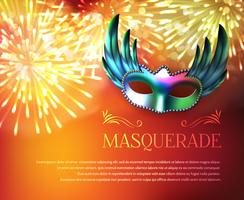 Affiche de mascarade de feux d'artifice