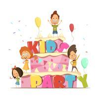 Composition rétro de fête d'enfants