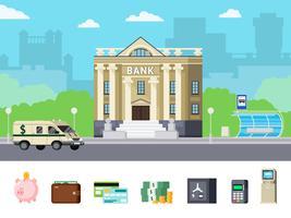 Concept orthogonal de banque vecteur