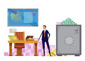 composition de commis financier riche
