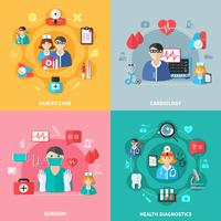 Concept de design plat médecine