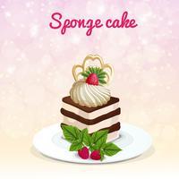 Illustration de gâteau éponge vecteur