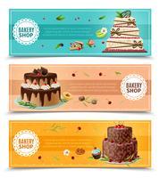 Jeu de bannières de gâteaux vecteur