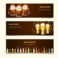 Ensemble de bannières de bière