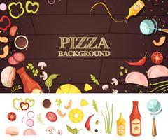 Concept de style de dessin animé de pizza