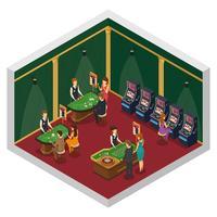 Composition intérieure isométrique du casino