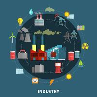 Illustration vectorielle avec des éléments de l'industrie
