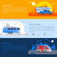 Ensemble de bannière de véhicules récréatifs vecteur