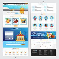 Conception de pages Web pour agences de voyages vecteur