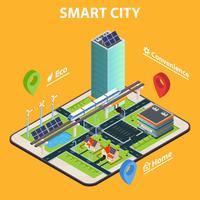 concept de tablette de ville intelligente