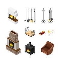 Ensemble d'éléments isométriques de cheminée