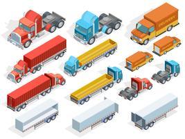 Collection isométrique de véhicules