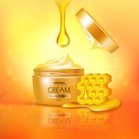 Composition de pot de crème au miel