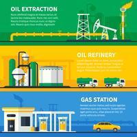 Jeu de bannières de gaz de pétrole vecteur