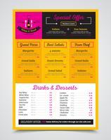 Modèle de menu de café image réaliste