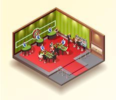 Concept de design isométrique du casino vecteur