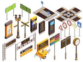 Ensemble de panneaux de direction urbaine