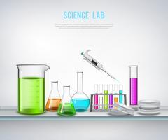 Composition chimique sur étagère vecteur