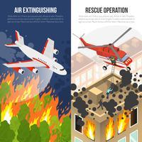 Bannières verticales du service d'incendie