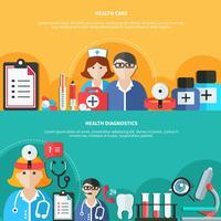 Bannières plates de soins de santé