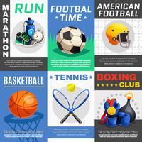Set d'affiches de sport moderne vecteur