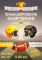 Affiche de sport de football américain vecteur