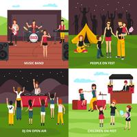 Concept de design de fête en plein air