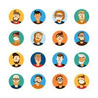 Ensemble Userpic Hommes vecteur
