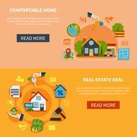Ensemble de bannières immobilier