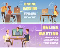 Ensemble de bannières de réunion en ligne