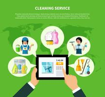 Concept de demande de nettoyage en ligne