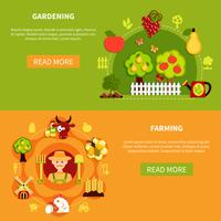 Bannières D'Agriculture Et De Jardinage