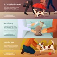 Ensemble de bannières Pet Shop