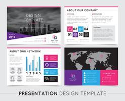 Modèles de présentation de l'entreprise vecteur