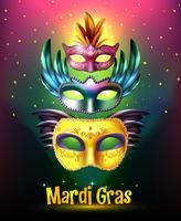 Affiche de carnaval de mardi gras vecteur