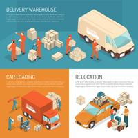 Concept de design de livraison vecteur
